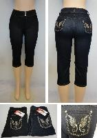 Ladies Fashion Stretch Capris [Denim Design]